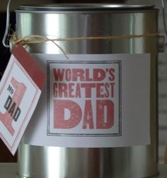 Father's Day container to fill with all kinds of goodies.