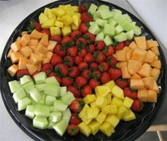 Platters : Gourmet Cheese and Cracker --serves 50- $80  Veggie Platter --serves 50- $70  Fruit Platter --serves50 $120  Hot Hors d'oeurves Sampler platter (includes above hot appetizers) --serves 50 $170  Deli Meatlovers Platter --serves 50- $130