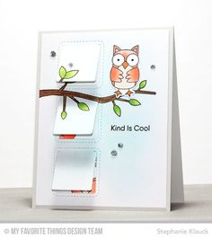 Critter Clan Stamp Set and Die-namics, I'm Tweet on You Stamp Set, Stitched Interactive Window Trio - Vertical, Kind Words Stamp Set - Stephanie Klauck #mftstamp