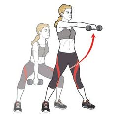 Complete three to five circuits of the exercises to the right, doing eight to 10 reps of each move and going from one to the next without stopping. Rest one minute between circuits. Do the workout two or three times a week.