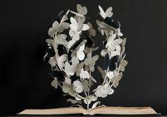 El árbol de las Mariposas - Libro intervenido - Libro artístico - Arte con Libros