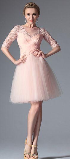 Pink Stylish Design Cocktail Dress