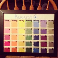 Diy  Paint Sample Dry Erase Calendar  Blog So Many Sweets