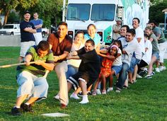 Burbank, California summer parks tug of war