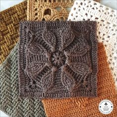 Square 6 of the by is finished! For this one I've used another of my birthday yarns dyed by… Crochet Squares Afghan, Crochet Quilt, Crochet Cushions, Crochet Blocks, Granny Square Crochet Pattern, Granny Squares, Crochet Motif Patterns, Crochet Designs, Crochet Stitches