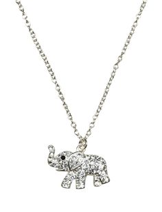 Rhinestone Elephant Necklace | Animal Shop | Jewelry By Trend | Shop Justice