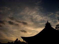 喜多見 氷川神社夕景