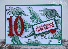KreativStanz Stempelset No Bones about it von Stampin' Up! Geburtstag Kind Dinosaurier #stampinup #dino http://kreativstanz.bastelblogs.de/