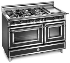 "Bertazzoni Heritage 48"" Pro Gas Range with 6 Burners & Griddle - $8,800.00 (I would LOVE to have a stove/oven this size! Sure would make Thanksgiving/Christmas dinner a bit easier!)"