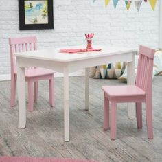 Lipper Mystic Table and Chair Set - Pink - 544PK