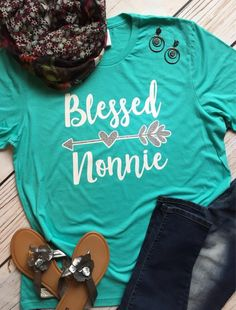 49e1e3bc Blessed Grandma Shirt, Blessed Nonnie Mimi Grammy Nana Memaw Granny,  Personalized Grandma Shirt, Christmas Gift for Grandma