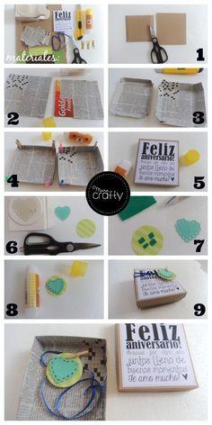 Cajas de regalo con material reciclado