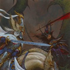 The Dark Elves press hard towards the heart of Ulthuan, driven by the desire to possess the island they were exiled from millenia ago and to reclaim the Phoenix Throne for the Witch King. Only the Shining Guard, fighting across many scattered fronts, can prevent them from being victorious.