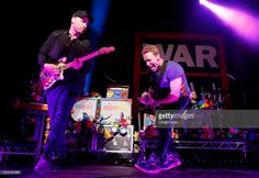Jonny Buckland, Chris Martin and Will Champion of Coldplay perform during Passport To Brits Week at Indigo at The O2 Arena on February 24, 2016 in London, United Kingdom.