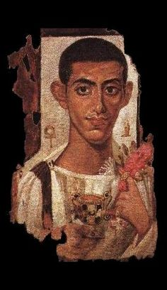 Fayum funeral Portrait (Egypt - Ier-IVè AD) ✖️Makeup Fashion Art Ideas✖️More Pins Like This One At FOSTERGINGER @ Pinterest✖️