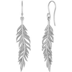 STERLING SILVER EARRINGS - Pieces (€45) ❤ liked on Polyvore featuring jewelry, earrings, accessories, brinco, sterling silver earrings, fish hook earrings, earring jewelry, feather earrings and earrings jewellery