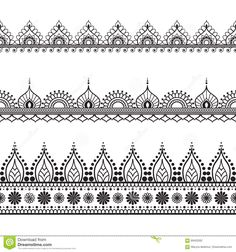 Find Mehndi, Indian Henna tattoo seamless pattern, design elements Stock Images in HD and millions of other royalty-free stock photos, illustrations, and vectors in the Shutterstock collection. Estilo Mehndi, Henna Tattoo Designs, Mehndi Designs, Indian Patterns, Henna Patterns, Zentangle Patterns, Zentangles, Mandala Arm Tattoo, Mandala Drawing