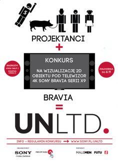 UNLTD. konkurs na wizualizację 2D mebla / obiektu / instalacji pod telewizor Sony Bravia. Do wygrania: Sony Xperia Z1 | FUTU.PL