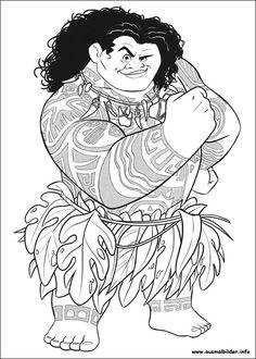 Ausmalbilder Vaiana Maui