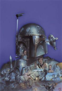· The Fighters Series by Tsuneo Sanda · - Star Wars Collectors Star Wars Rebels, Star Wars Boba Fett, Star Wars Poster, Star Wars Art, Star Trek, Heavy Metal, Boba Fett Mandalorian, Jango Fett, Chasseur De Primes