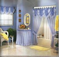 Simple Small Bathroom Window Curtain Ideas