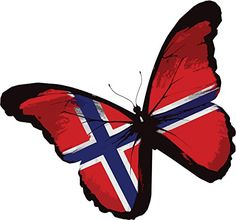 Norway Butterfly Flag Home Decal Vinyl Sticker 13'' X 12'' >>> More info could be found at the image url. (This is an affiliate link and I receive a commission for the sales)