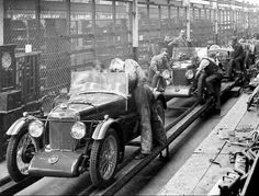 MG factory. Vintage Photo