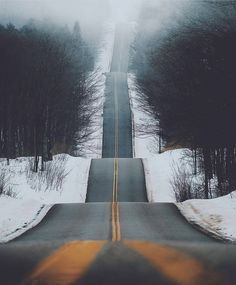 Winter landscape photography wonderland roads ideas for 2019 Beautiful Landscape Photography, Beautiful Landscapes, Nature Photography, Photography Ideas, Travel Photography, Beautiful Roads, Beautiful Places, Wonderful Places, Country Landscaping