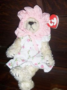 853bd4a6506 1993 The Attic Treasures Collection Rosalie Bear A Rose By Any Other Name Ty  Beanie Baby