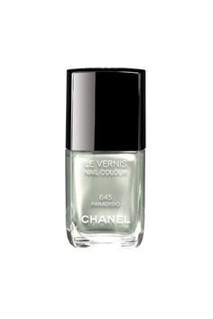 Chanel's latetst colours #645 Paradiso Light Green with pearly glow