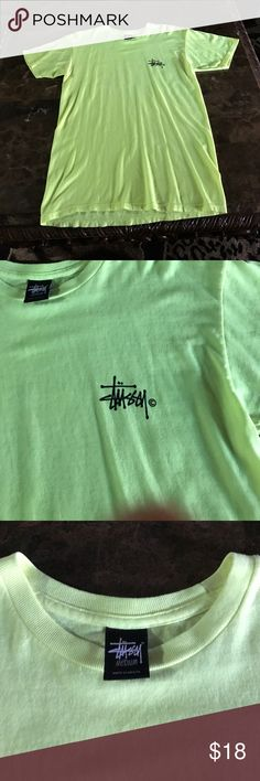 Stussy T-shirt! Highlighter green BRAND NEW! Never worn and never washed Stussy Shirts Tees - Short Sleeve