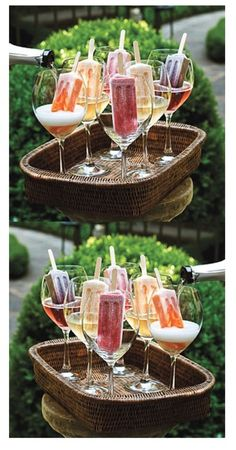 Best idea: popsicles + prosecco from Tender Buttons.