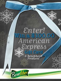 $100 American Express Gift Card Giveaway & Benefiber Recipe Tips | FamilyFreshCooking.com