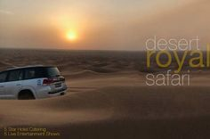 #enjoy luxury with our #Royal #safari the best ride in #dubai  #desert. #sahara the meaning of #arabian #nights and dunes of the memorable experience. #Sunset #private #setup #RoyalDinner #travel tour-dubai.com