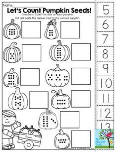 Halloween Math Worksheets, Fun Worksheets For Kids, Printable Math Worksheets, Kindergarten Math Worksheets, Preschool Math, Math Activities, Number Worksheets, Shapes Worksheets, Counting Worksheet