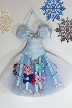 "Girls Hair Bow Organizer-Bow Storage-""Cinderella"" Tutu Dress Hanging Bow Holder"
