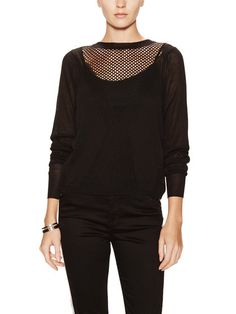 Open Knit Yoke Sweater by Faith Connexion at Gilt