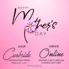 Mom's the best and she deserves the best! 💞 The Magnolia House Gift Card is the way to go! A day of self care and rejuvenation is what she really wants and DESERVES! Take advantage of our amazing gift card promo as well! Pick up our Traditional Gift Card today curbside or go online to our website and get an instant e-Gift Card delivered to her inbox. www.magnoliahousespa.com/gift_card For more info email us: boutique@magnoliahousespa.com Mother's Day Gift Card, Magnolia House, Happy M, Spa Packages, House Gifts, Best Gifts, Traditional, Boutique, Website