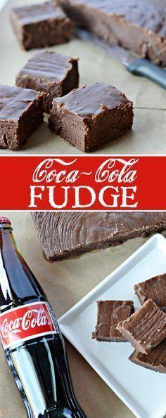 Coca-Cola Fudge Recipe: A quick and simple recipe for chocolate fudge with Coca-Cola cooked right inside. #SmartWayToShareJoy #ad