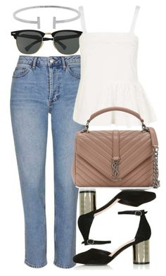 """""""Untitled #5171"""" by rachellouisewilliamson on Polyvore featuring Topshop, Ray-Ban, Yves Saint Laurent and Humble Chic"""