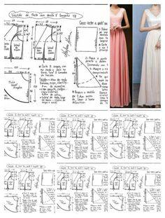 Long dress pattern size 36-46