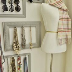Jewelry and sunglasses display idea