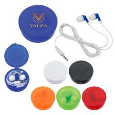 Wordans Promo 2707 - Earbuds In Round Plastic Case