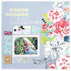 Join us for the @gossamerblue Design Team blog hop. I'm talking about how bold papers like this intimidate me. #gossamerblue #bloghop #scrapbook #papercrafts #scrapbooking