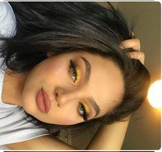 110 ultimate summer makeup trends that are hotter than the summer days 8 Makeup Eye Looks, Cute Makeup, Glam Makeup, Pretty Makeup, Eyeshadow Makeup, Beauty Makeup, Hair Makeup, Women's Beauty, Makeup Brushes