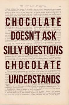 b for bel: Keep Calm because Chocolate Understands