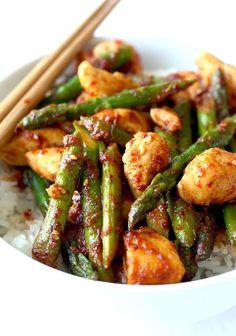 korean chicken stir fry recipe by SeasonWithSpice.com