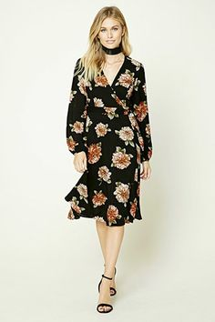 84b5518e128daa Contemporary Floral Print Dress Forever 21 Floral Dress