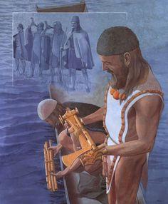 Ofring af dolkstave, Melz,Tyskland – Stabdolch-Opfer, Melz, Deutschland – Sacrificial priest with bronze weapons, Melz, Germany