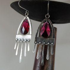 rubinowy kryształ Biżuteria Kolczyki mz studio on Trendymania